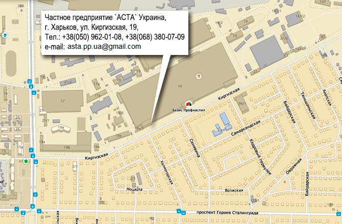 Карта проезда в Частное предприятие `АСТА` | Почвообрабатывающая техника европейского производства